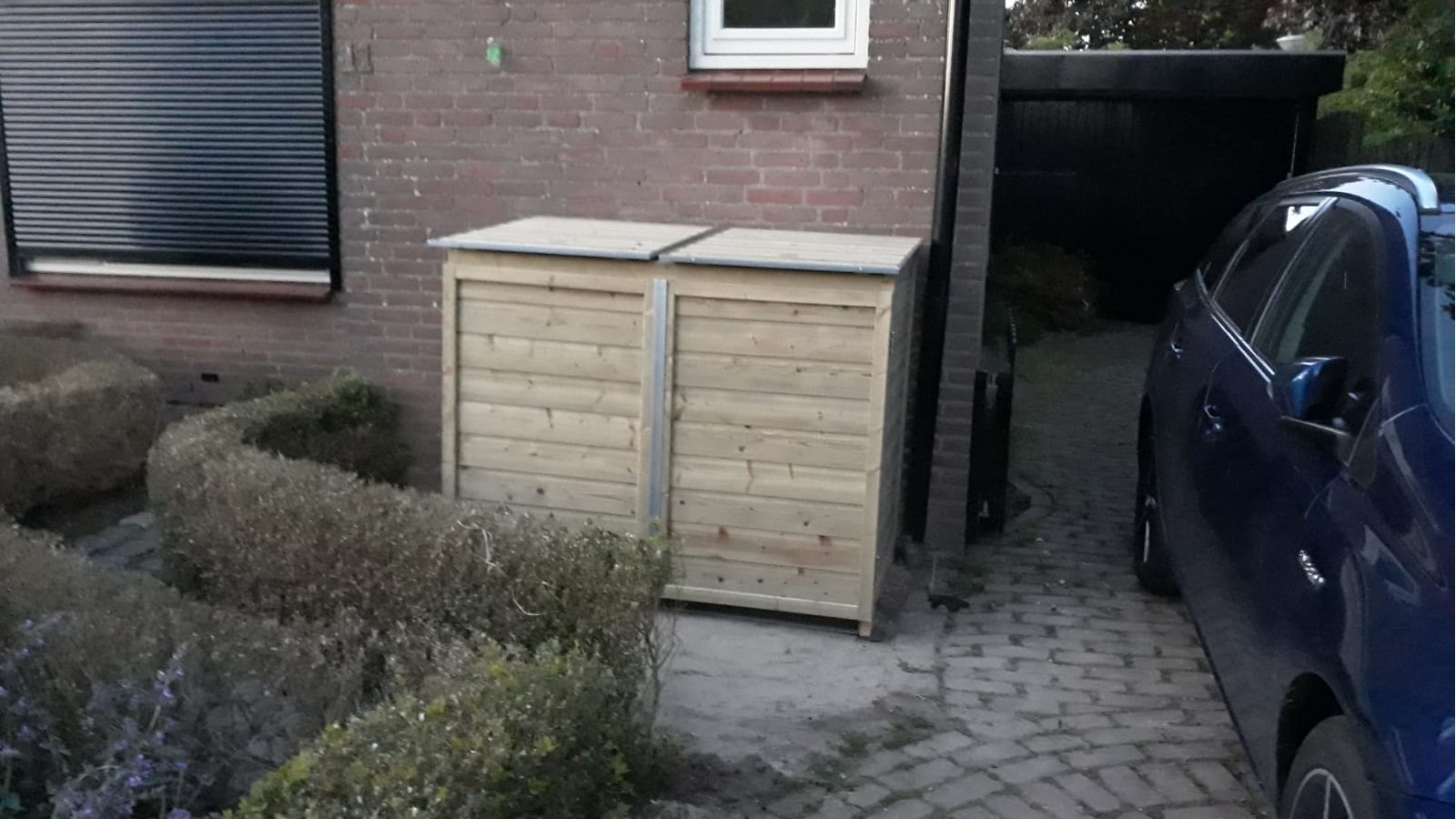 Container bekisting oude tuin